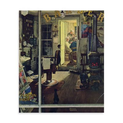 Norman Rockwell Shuffleton's Barbershop 30-Inch x 36-Inch Canvas Wall Art