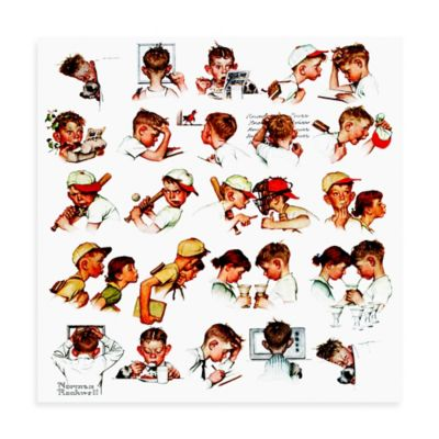 Norman Rockwell A Day in the Life of a Boy 32-Inch x 32-Inch Canvas Wall Art