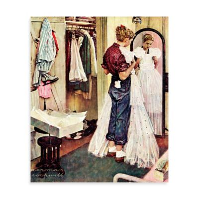 Norman Rockwell Prom Dress 24-Inch x 29-Inch Canvas Wall Art