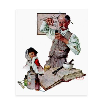 Norman Rockwell Pharmacist 30-Inch x 36-Inch Canvas Wall Art