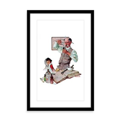Norman Rockwell Pharmacist 12-Inch x 18-Inch Framed Print Wall Art