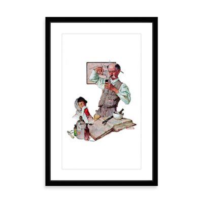 Norman Rockwell Pharmacist 16-Inch x 24-Inch Framed Print Wall Art