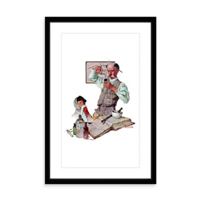Norman Rockwell Pharmacist 24-Inch x 36-Inch Framed Print Wall Art