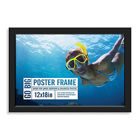 Buy GO BIG 12-Inch x 18-Inch Poster Frame in Black from ...