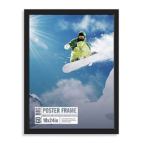 Buy GO BIG 18-Inch x 24-Inch Poster Frame in Black from ...