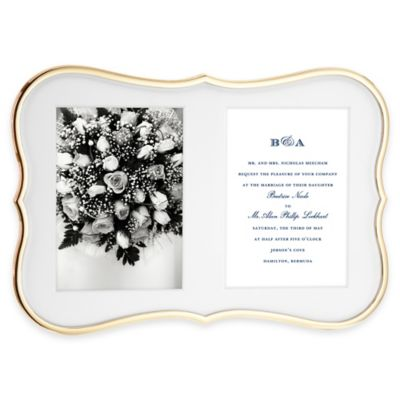kate spade new york Crown Point™ Gold 2-Opening Picture Frame