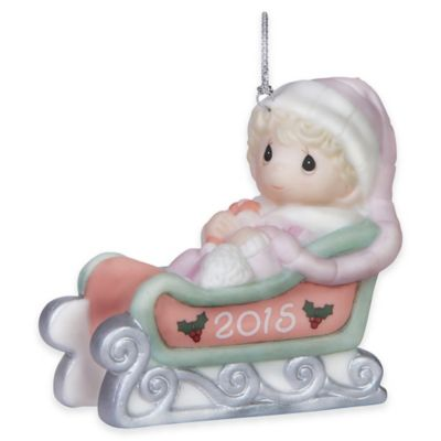 Precious Moments® 2015 Baby's First Christmas Girl Ornament