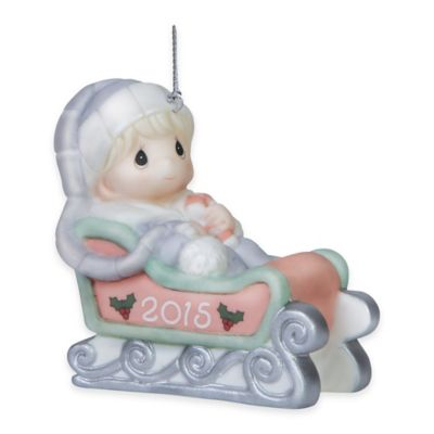 Precious Moments® 2015 Baby's First Christmas Boy Ornament