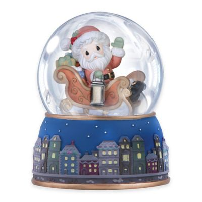Precious Moments® Santa Sleigh Musical Water Globe