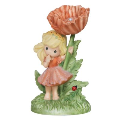 Precious Moments® You Are My Joy Girl with Poppy Flower Figurine