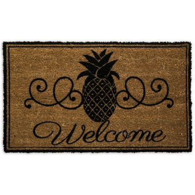 Pineapple Welcome Door Mat Insert
