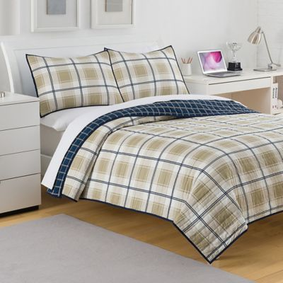 Izod® Fairfax Reversible Twin Quilt