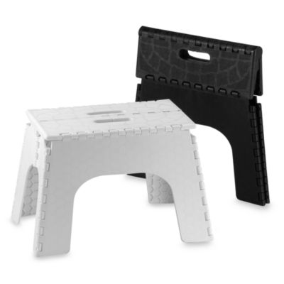 Step Stools > EZ Foldz 12-Inch Folding Step Stool in White