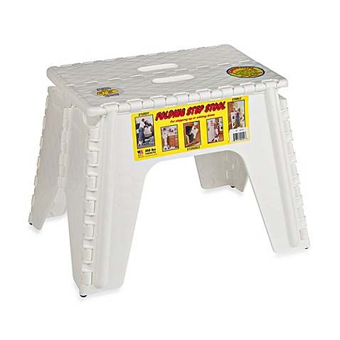 Buy Ez Foldz 12 Inch Folding Step Stool In White From Bed