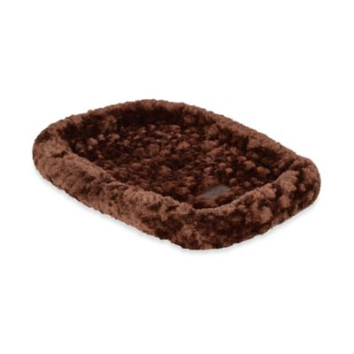 Cozy Polyester 37-Inch x 21-Inch Pet Crate Bed in Chocolate