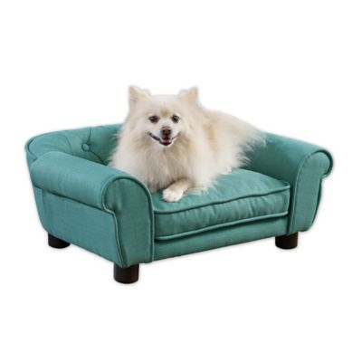 Sydney Linen Pet Sofa in Teal