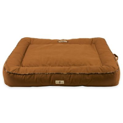 Cotton Duck 30-Inch x 30-Inch Pet Bed in Chestnut