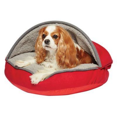 Precious Tails Felt 25-Inch Cave Pet Bed in Red