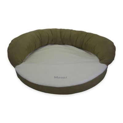Orthopedic Bolster Pet Bed in Sage Green