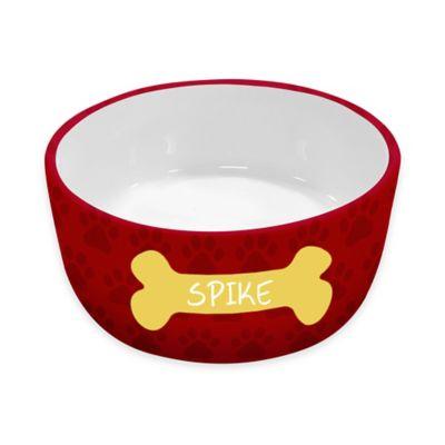 Ceramic Dog Bowl in Red