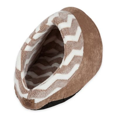 Hide and Seek Polyester Cat Bed in Tan