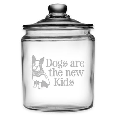 """Dogs Are the New Kids"" 64 oz. Treat Jar with Lid"