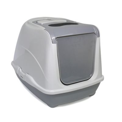 Moderna Large Flip Top Enclosed Litter Box in Speckled Grey