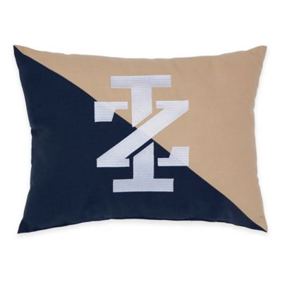 Izod® Classic Stripe Embroidered Logo Oblong Throw Pillow