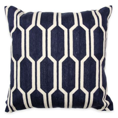 Navy/White Throw Pillows