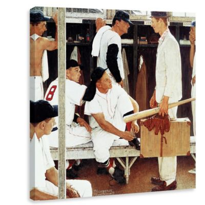 Norman Rockwell The Rookie 18-Inch x 18-Inch Canvas Wall Art