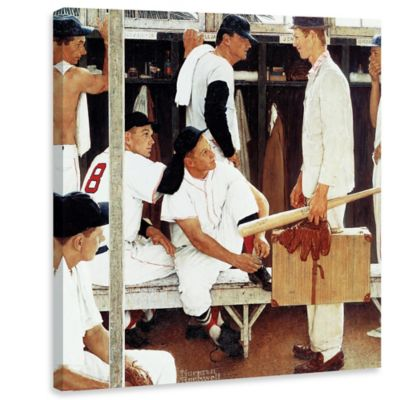 Norman Rockwell The Rookie 32-Inch x 32-Inch Canvas Wall Art