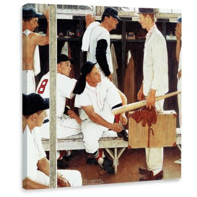 Norman Rockwell The Rookie 40-Inch x 40-Inch Canvas Wall Art