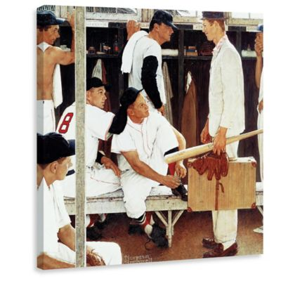 Norman Rockwell The Rookie 48-Inch x 48-Inch Canvas Wall Art
