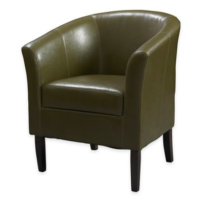 Simon Retro Modern Club Chair in Cedar Vinyl