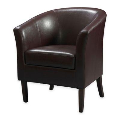 Simon Retro Modern Club Chair in Blackberry Vinyl