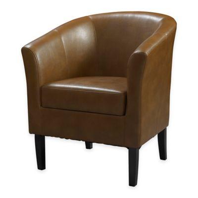 Simon Retro Modern Club Chair in Blackberry Russet