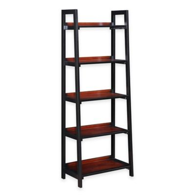 Camden Five-Shelf Bookcase in Black Cherry