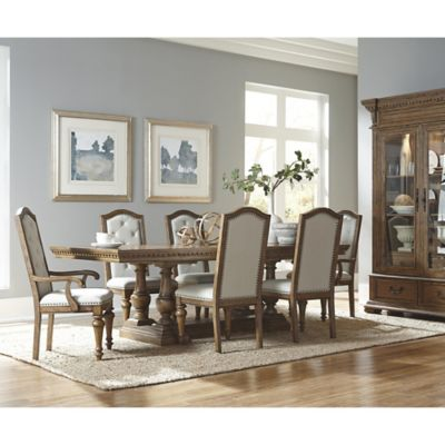 Pulaski Stratton 8-Piece Dining Set in Light Brown