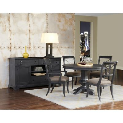 Pulaski Vintage Tempo 7-Piece Dining Set in Charcoal