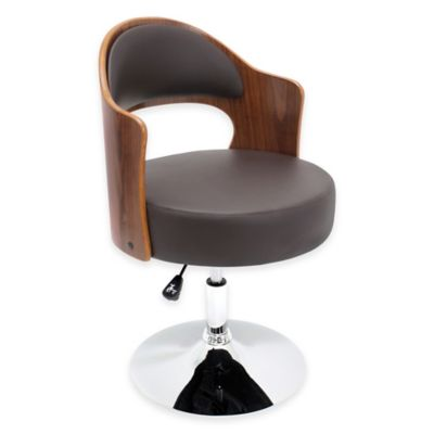 LumiSource Cello Chair in Walnut/Brown