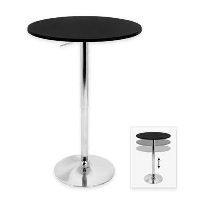 LumiSource Adjustable Bar Table in Black
