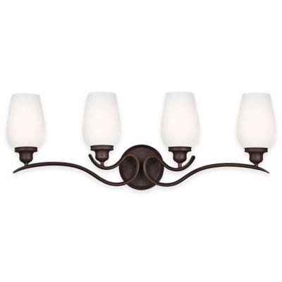 Feiss® Standish 4-Light Vanity Fixture in Oil-Rubbed Bronze