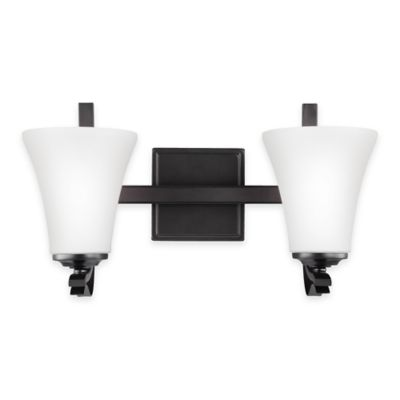 Feiss® Summerdale 2-Light Bath Vanity in Oil-Rubbed Bronze with LED Bulb