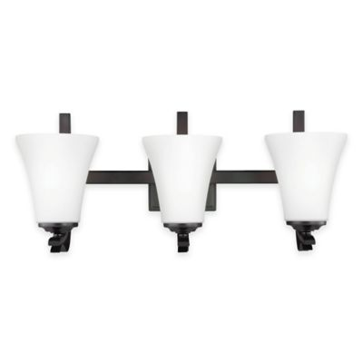 Feiss® Summerdale 3-Light Bath Vanity in Oil-Rubbed Bronze with LED Bulb