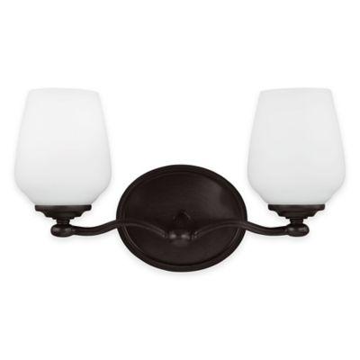 Feiss® Vintner 2-Light Vanity Fixture in Heritage Bronze with CFL Bulbs
