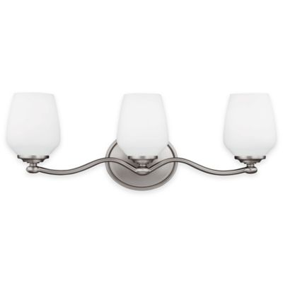 Feiss® Vintner3-Light Vanity Fixture in Satin Nickel with CFL Bulbs