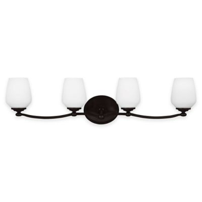 Feiss® Vintner 4-Light Vanity Fixture in Heritage Bronze with LED Bulbs