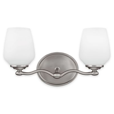 Feiss® Vintner 2-Light Vanity Fixture in Satin Nickel