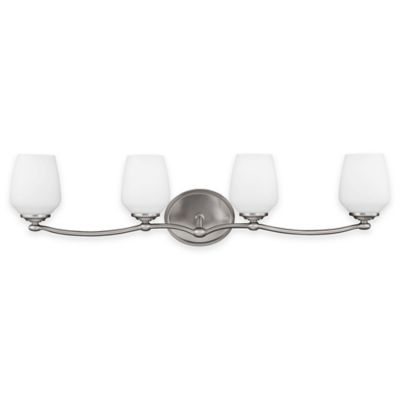 Feiss® Vintner 4-Light Vanity Fixture in Satin Nickel