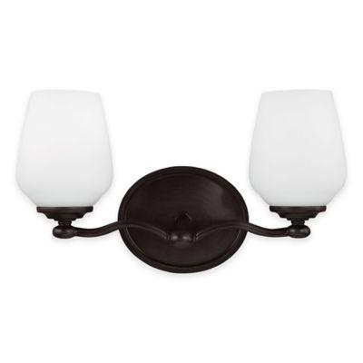 Feiss® Vintner 2-Light Vanity Fixture in Heritage Bronze
